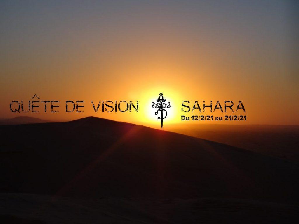 quete de vision dans le sahara en février