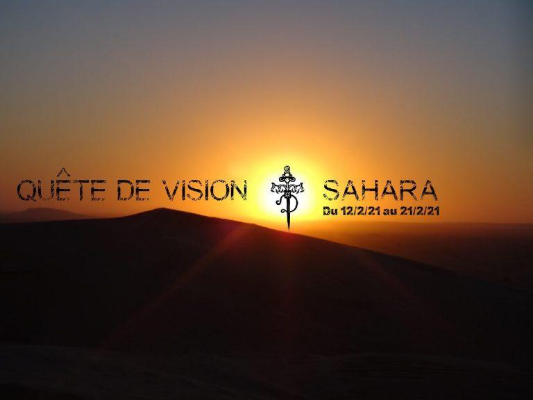 Quête de Vision dans le Sahara